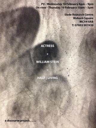 Actress + William Stein = Half Living