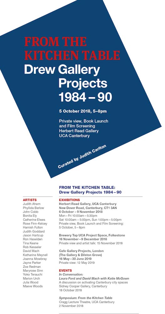 From the Kitchen Table, Drew Gallery Projects 1984 -90 - UCA Canterbury
