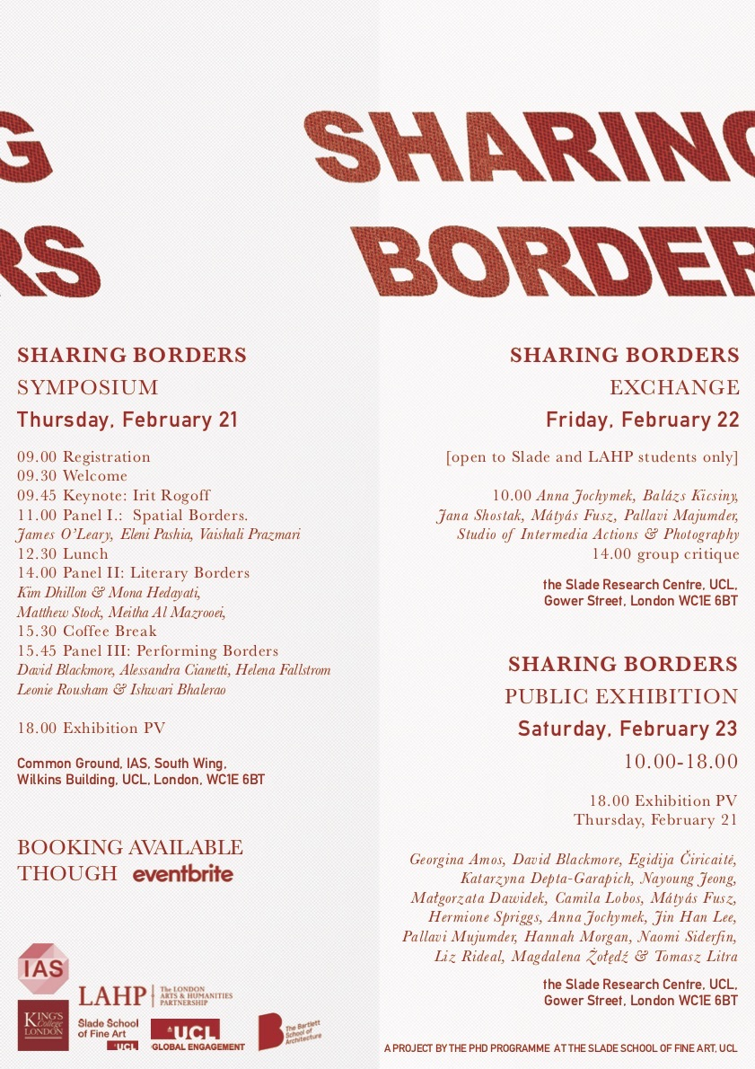 Sharing Borders - Symposium and Exhibition - UCL