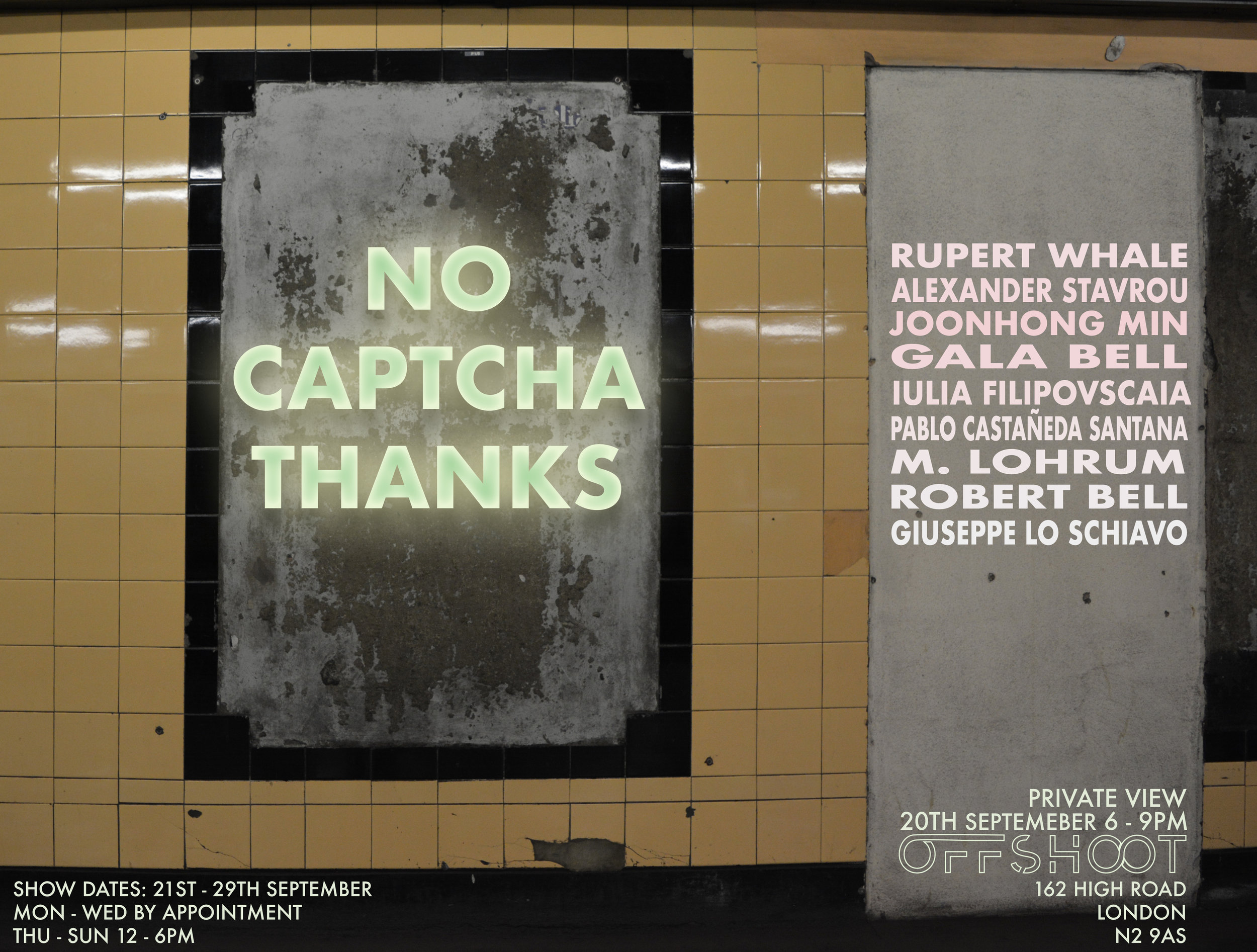 No Captcha Thanks - Offshoot Gallery