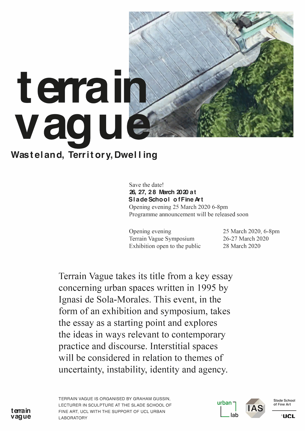 EVENT CANCELLED - Terrain Vague