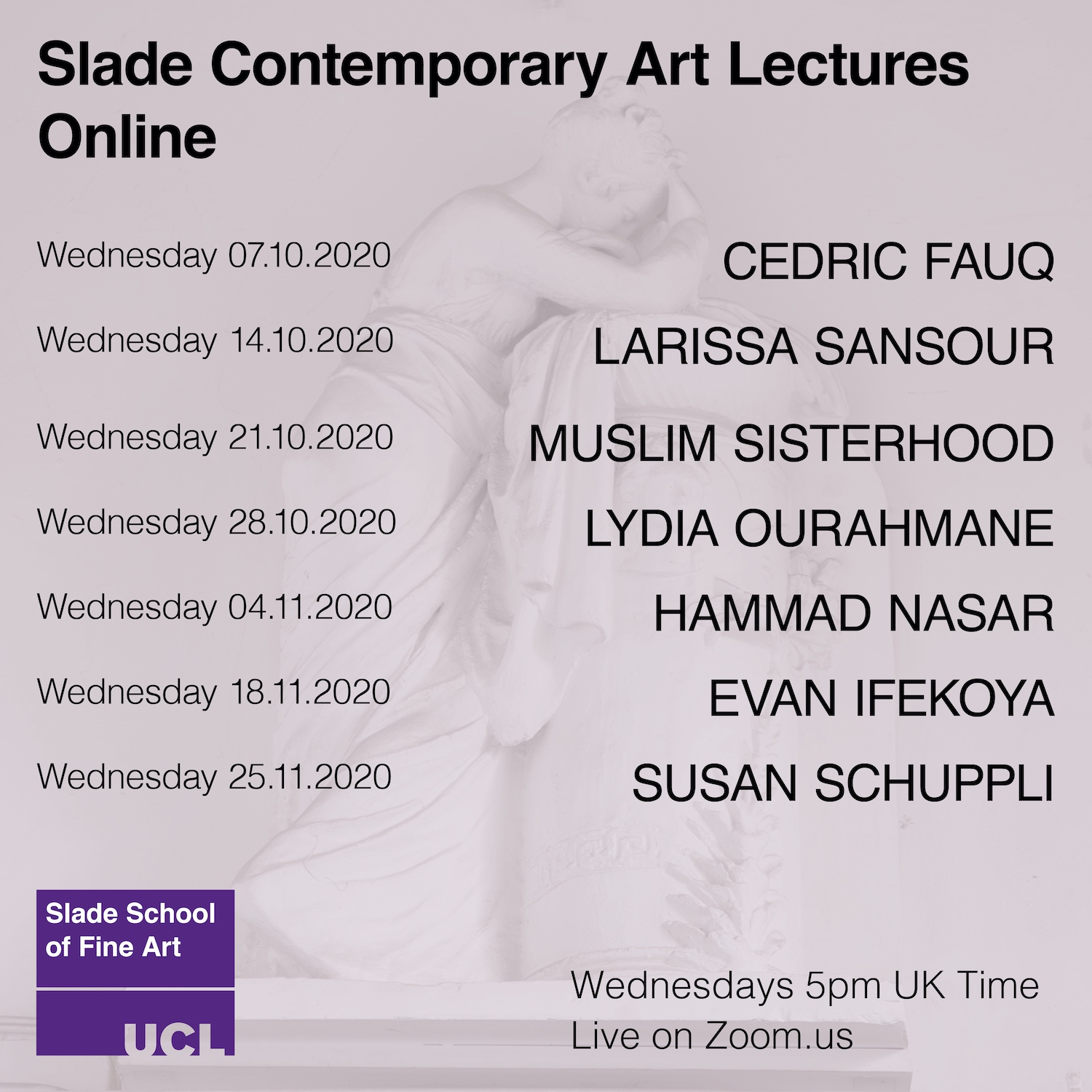 Contemporary Art Lectures - Autumn 2020