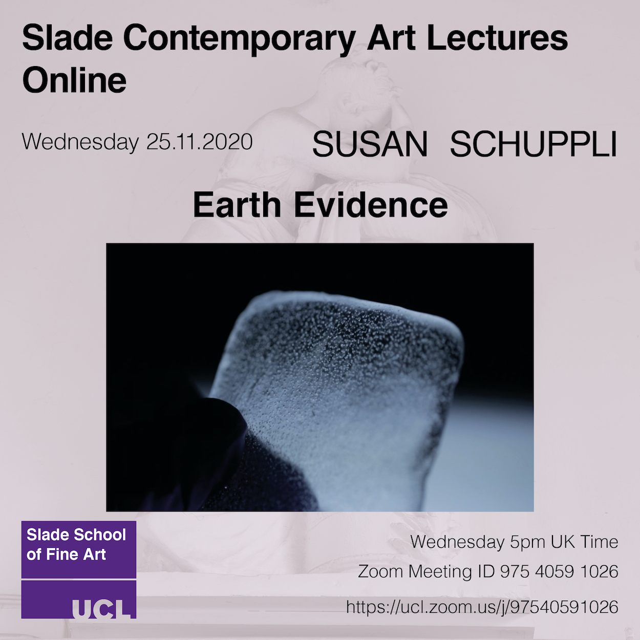 Contemporary Art Lecture: Susan Schuppli: Earth Evidence