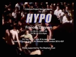 HYPO - Coleman Project Space