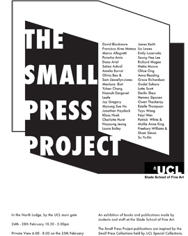 Small Press Project Event