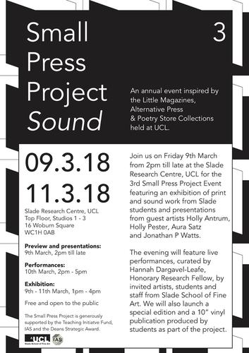 Small Press Project Event 2018