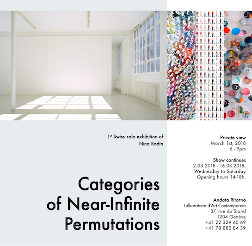 Categories of Near-Infinite Permutations - Andata Ritorno Gallery