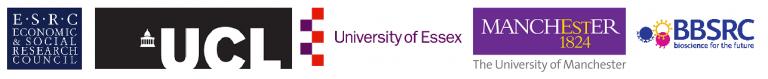 ESRC, UCL, University of Essex. Manchester University and BBSRC Logo