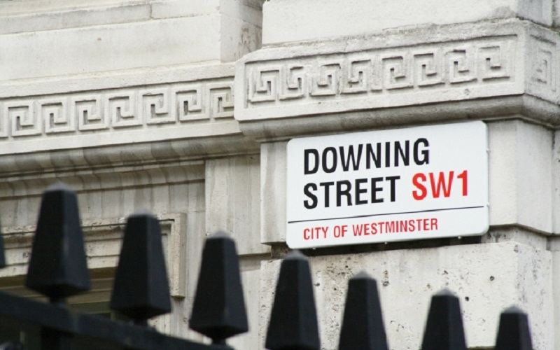 Signpost of Downing Street