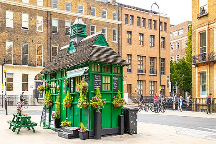 Taxi Hut near Russell Sq London