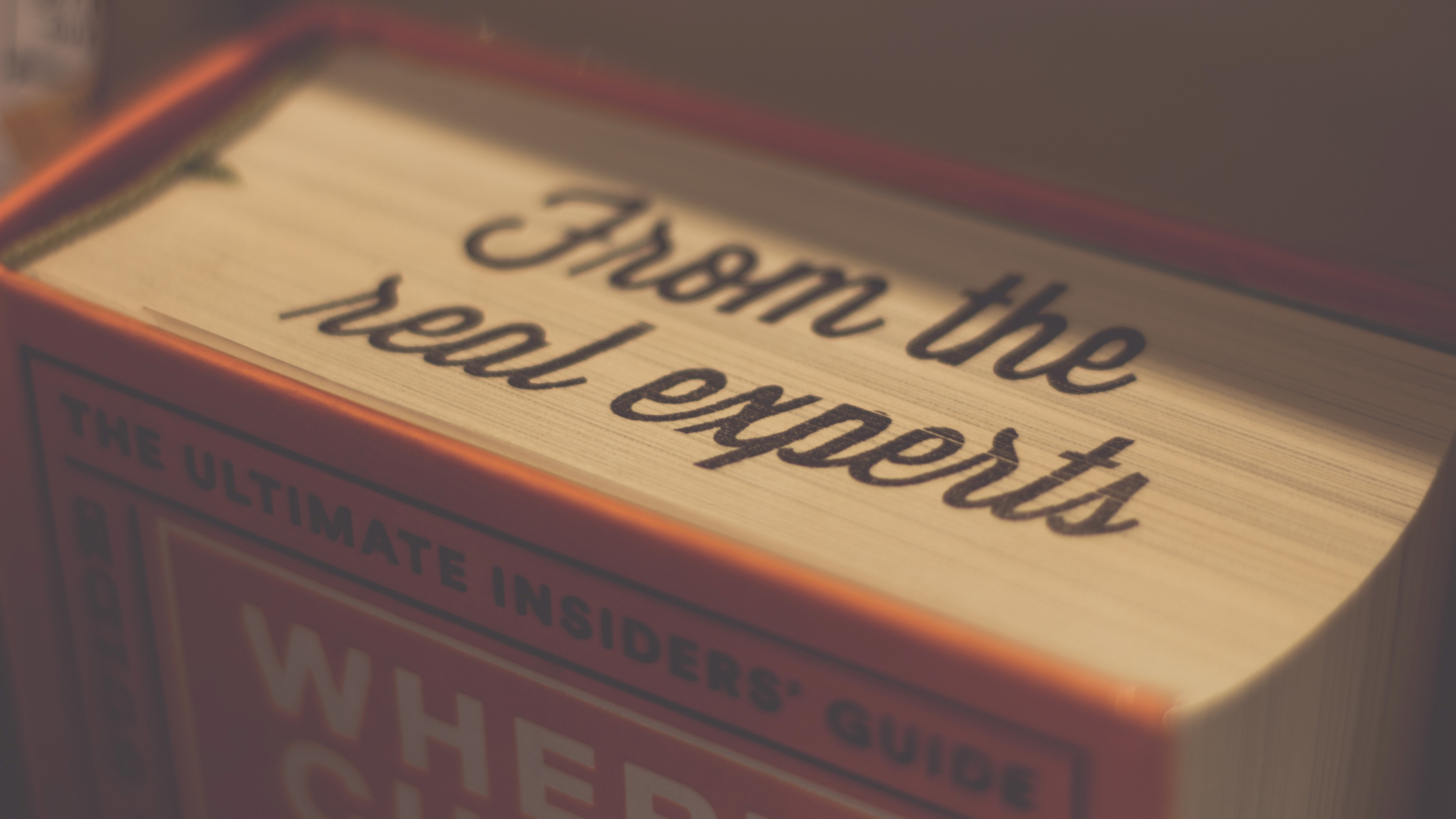 Book with the word experts written on it