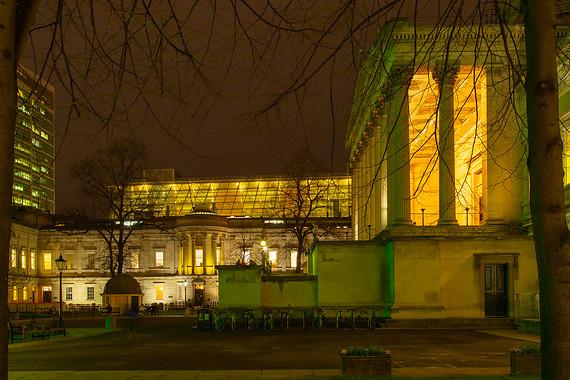 UCL main campus at night