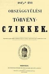 Torveny Czikkek 1848…