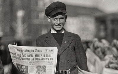 newspaper boy 1920s