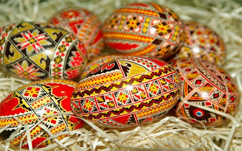 Painted eggs Romania