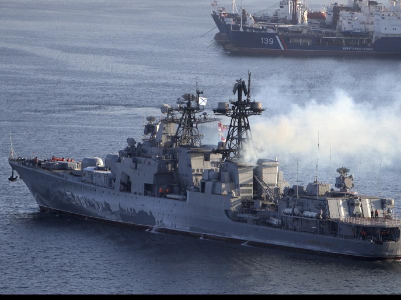 Russian naval ships