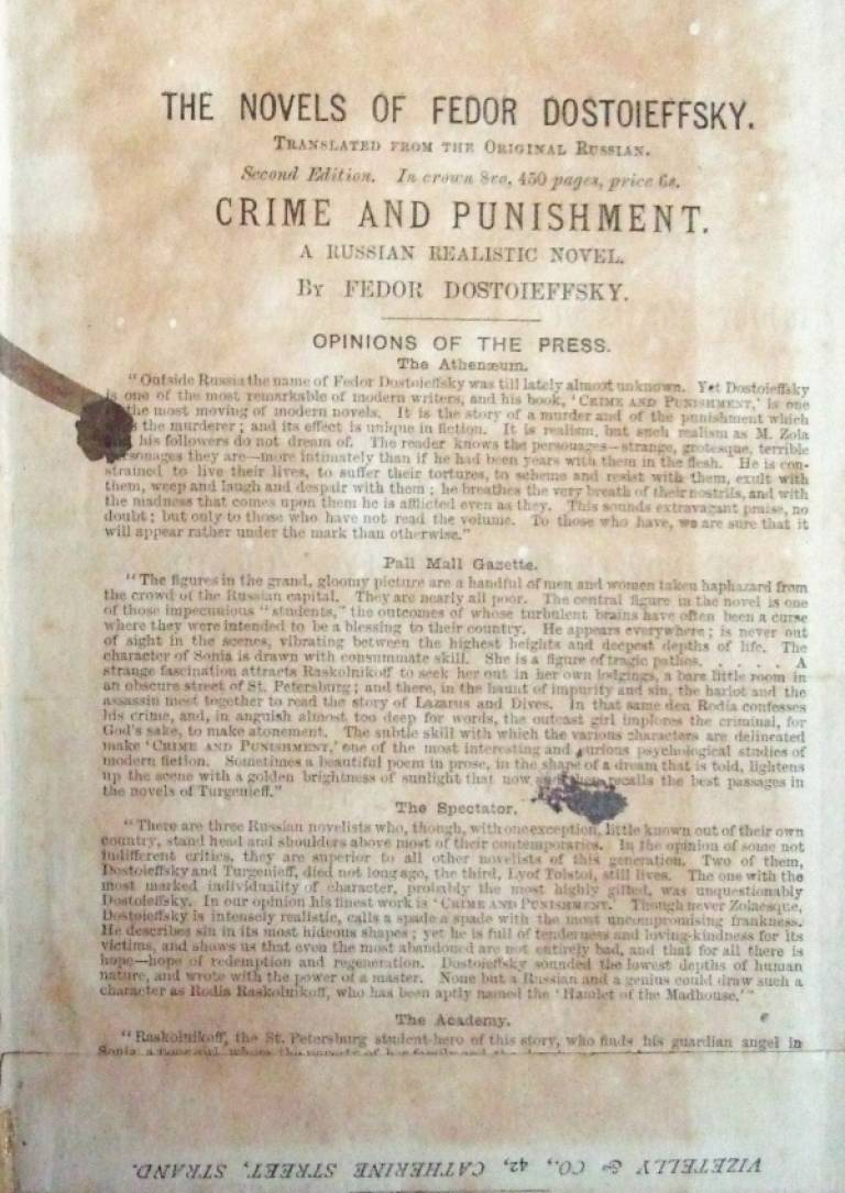Crime and Punishment title page