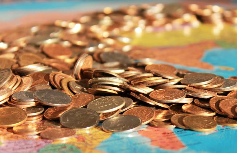 Coins on a map