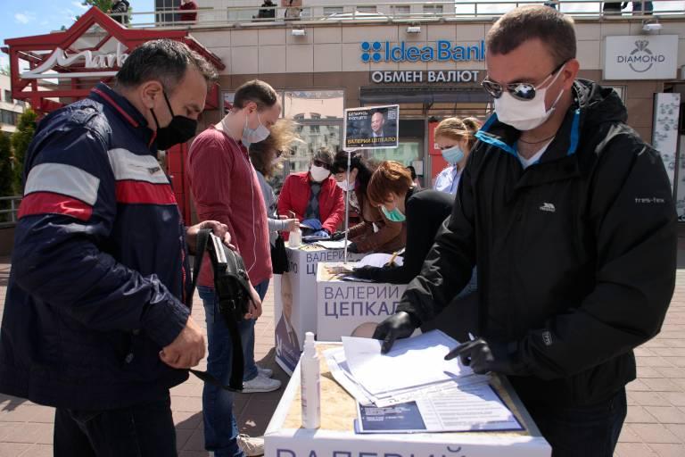Belarus polling station