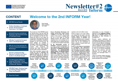 SECOND INFORM NEWSLETTER (March 2018)