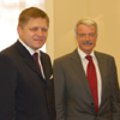 Robert Fico, Slovak Prime Minister, and UCL Provost, Malcolm Grant…