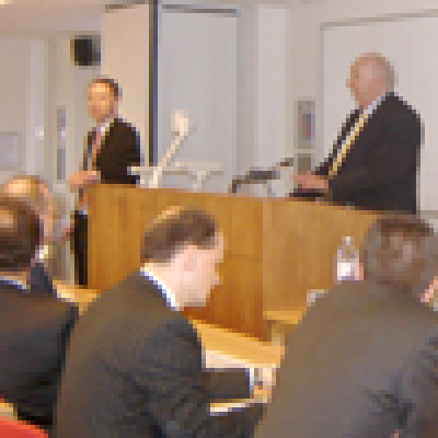 Bruce George MP addressing the NATO PA Economics and Security Committee…