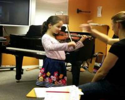 playing the violin…