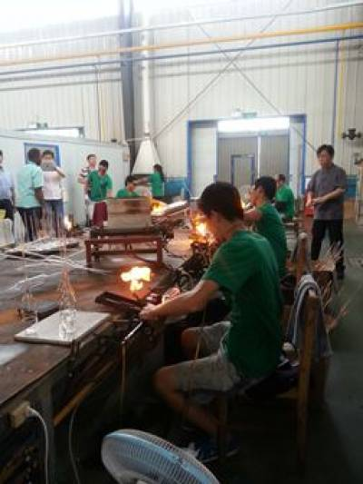 Glass production…