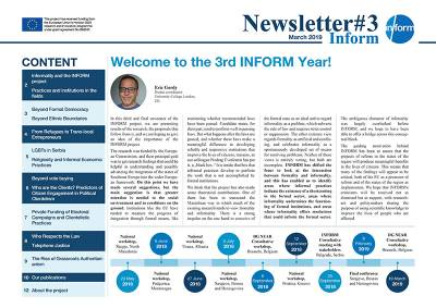 THIRD INFORM NEWSLETTER