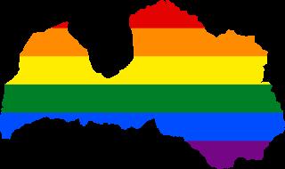 LGBTQ map of Latvia