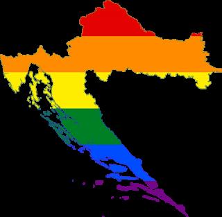 LGBTQ map of Croatia