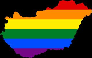 LGBTQ map of Hungary