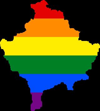 LGBTQ map of Kosovo