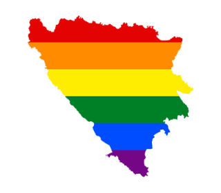 LGBT map of Bosnia & Herzegovina