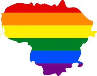 LGBTQ map of Lithuania