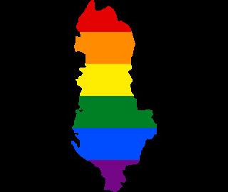 LGBTQ map of Albania