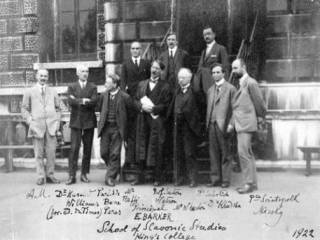 Staff of the then School of Slavonic Studies, King's College in 1922…