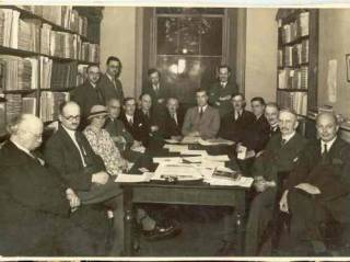 A meeting of teachers of Slavonic subjects, probably in 1934-35…