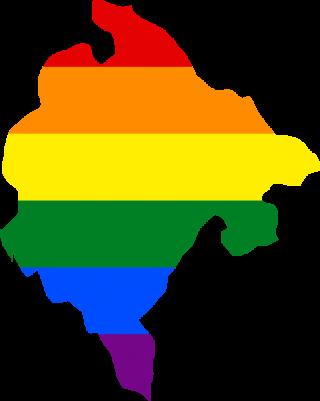 LGBTQ map of Montenegro