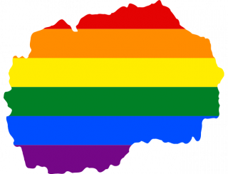 LGBTQ map of North Macedonia