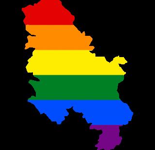 LGBTQ map of Serbia