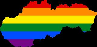 LGBTQ map of Slovakia