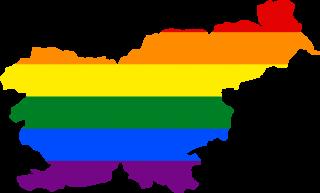 LGBTQ map of Slovenia