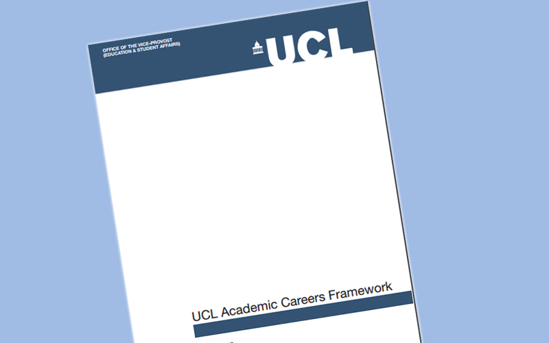 Graphic of UCL Academic Careers Framework document