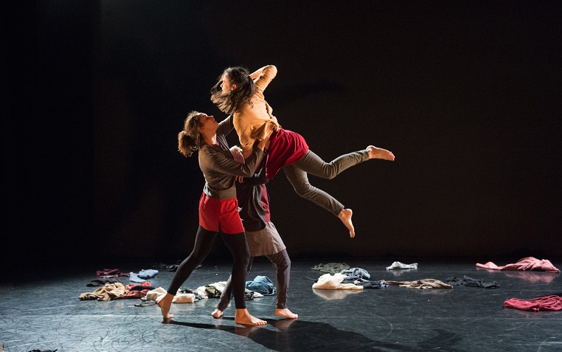 Photograph: Dr Cosgrave with Scatter, The Place's adult dance company (photograph by Hayley Madden).