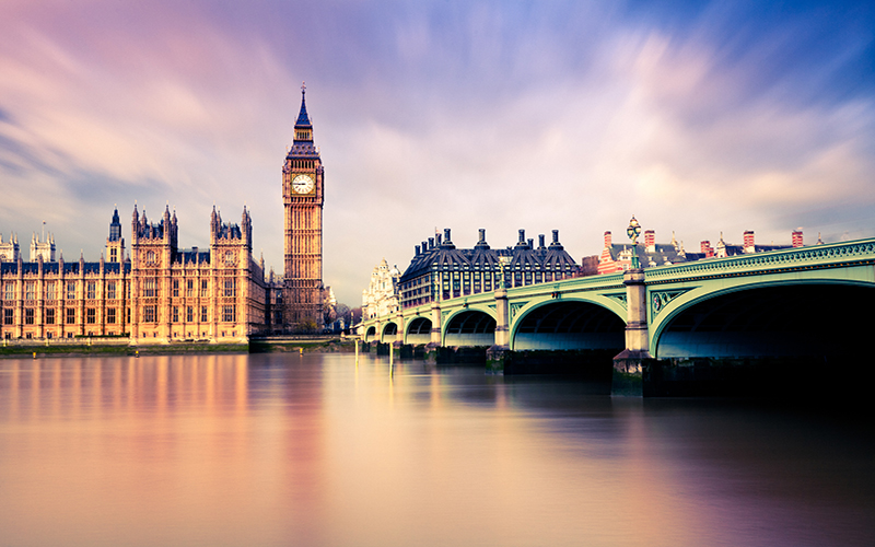 Image of Houses of Parliament and Westminster Bridge