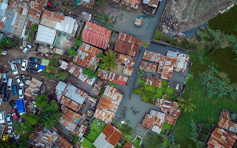 Dar es salaam floods aftermath aerial drone images