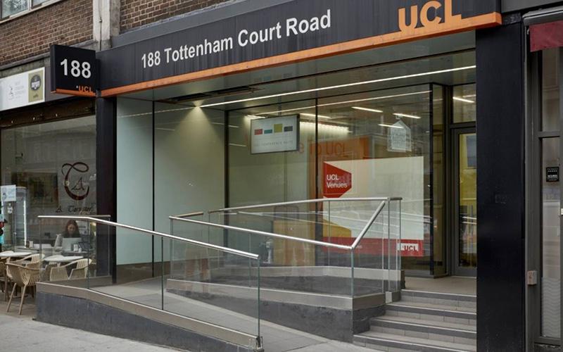 188 Tottenham Court Road entrance
