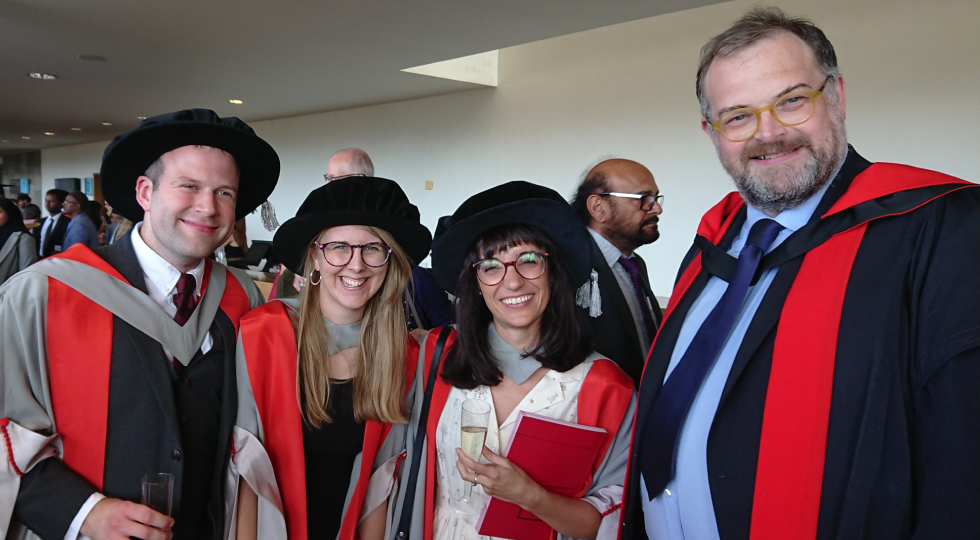 PhD student graduation in UCL Department of Science and Technology Studies (STS)