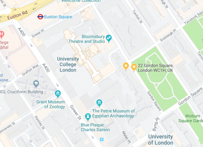 Location UCL Department of Science and Technology Studies (STS)